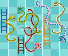 snakes and ladders art