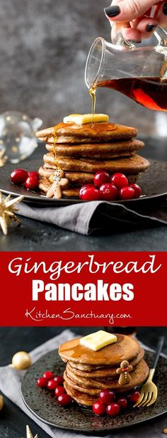 WMF Cutlery And Cookware - One Of The Most Trustworthy Cookware Producers These Christmas Gingerbread Pancakes Are Light And Fluffy, With A Hint Of Cinnamon And Ginger - Perfect For Christmas Day Breakfast Christmas Morning Breakfast, Christmas Brunch, Christmas Desserts, Christmas Treats, Merry Christmas, Christmas Pancakes, Italian Christmas, Gingerbread Pancakes, Christmas Gingerbread