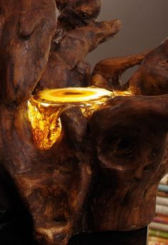 Treibholz Deko Treibholzlampe  Skulptur Driftwood Driftwood Sculpture, Sculpture Art, Wood Lamps, Unique Lamps, Led, Urban Photography, House In The Woods, Wood Wall Art, Rustic Style