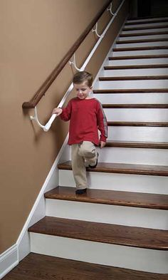 toddler stair railing - Google Search