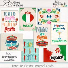 Time To Fiesta: Journal Cards by LDrag Designs