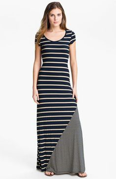 Everleigh Multi Stripe Short Sleeve Maxi Dress available at Nordstrom
