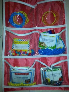 Example of the braclets and how to store the beads. When abead is earned can send home a note for parents to know the progress.