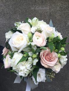 Beautiful bridal designed by Katherine. Flower Factory Van.