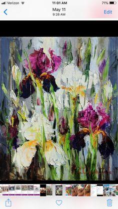 Iris Art, Floral Drawing, Abstract Canvas Art, Encaustic Art, Art Abstrait, Art Moderne, Art For Art Sake, Abstract Flowers, Painting Inspiration