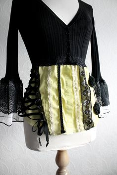 Upcycled Clothing Black Sweater Women's by BrokenGhostClothing, $57.00