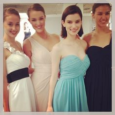 Make your bridesmaids happy by outfitting them in Bill Levkoff!