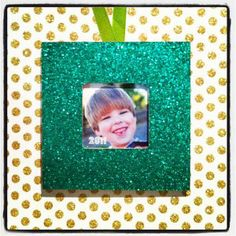 Sparkling Mod Podge Frame Ornament | AllFreeChristmasCrafts.com