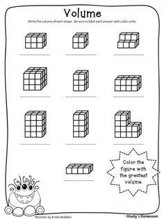 Volume of a Rectangular Prism Worksheet | Volume (Middle School ...