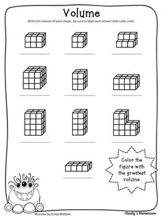 math worksheet : great for beginners  volume worksheet  math  pinterest  : Math Cubes Worksheet