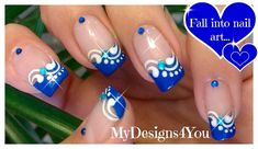 Blue French tip nail art design French Tip Nail Art, French Tip Nail Designs, French Acrylic Nails, French Manicure Nails, Manicure Y Pedicure, Nail Art Designs, Nail Nail, French Art, Blue French Tips