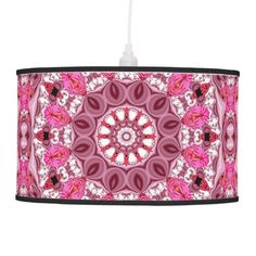 Peppermint Stick, Abstract Pink Lace Jewels Candy Hanging Lamps
