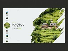 Trek in Nepal - My first project with Principle Software. I explained my trek in Nepal through animations. Design Web, Layout Design, Website Design Layout, Web Layout, Page Design, Banner Design, Website Design Inspiration, Graphic Design Inspiration, Foto Website