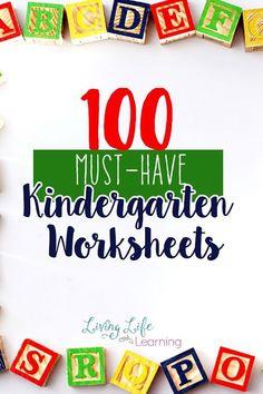 100 Must-HaveKindergarten Worksheets and Printables