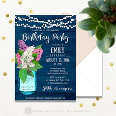 Adult Birthday Party Invitations Printable Surprise by AmeliyCom https://www.etsy.com/listing/291752507/adult-birthday-party-invitations