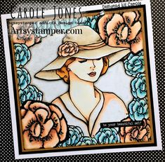 Craftilicious Creations: * Artsystamper: Hello Beautiful Peach Flowers, Spring Flowers, Team Challenges, Girls Time, Hello Beautiful, Copic Markers, Tim Holtz, My Images, How To Introduce Yourself