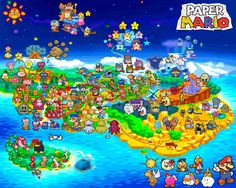 Paper Mario Map by SilverBuller.deviantart.com on @DeviantArt