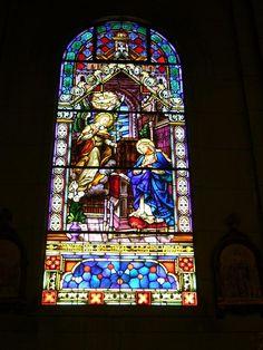Vitral de la catedral de Santa Inés. Jorge A. Rizo.