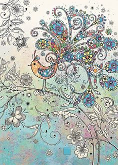 BugArt Decoratives ~ Doodle Bird. DECORATIVES Designed by Jane Crowther.