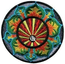 Yoga Flower Iron On Patch