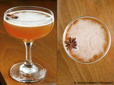 Betula: Birch-infused Rittenhouse Bonded Rye, Matusalem Gran Reserva Rum, lemon juice, grade B maple syrup, star anise garnish | Umami Mart // PDT Cocktail Book