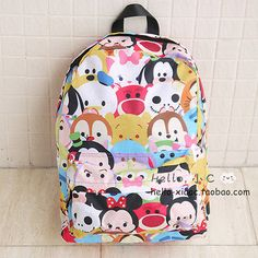 New Fashion IT CHOCOOLATE X DISNEY TSUM TSUM Backpack School Bag Travel Bag 38cm $28