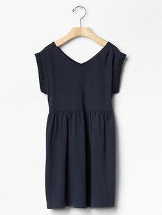 Double V-neck dress