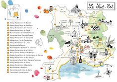 guide des abbayes - Caroline Donadieu - South East France map