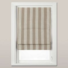Buy John Lewis Croft Collection Wide Stripe Blackout Roman Blind, from our Ready Made Roman Blinds range at John Lewis. Decor, Cosy Living Room, Blackout Roman Blinds, Blackout, Victorian Terrace, Blinds, Roman Shade Curtain, Home Decor, Stripe