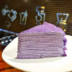 We'll never get tired of ube! Check out the good news from Conti's and 15 more ube desserts we spotted around the metro! Filipino Desserts, Asian Desserts, Köstliche Desserts, Delicious Desserts, Dessert Recipes, Yummy Food, Ube Recipes, Cooking Recipes, Crape Cake