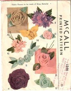 McCall 1246 ©1946 Fabric Flowers