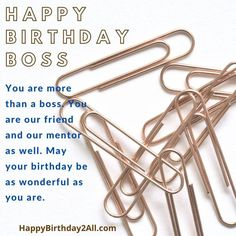 Happy Boss's Day Quotes, Happy Birthday Boss Quotes, Boss Day Quotes, Birthday Wishes For Boss, Birthday Quotes For Her, Birthday Reminder, Happy Birthday Wishes Cards, Babe Quotes, Very Happy Birthday