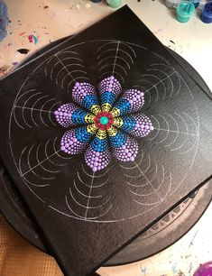 Mandala Painted Rocks, Mandala Rocks, Flower Mandala, Mandala Art Lesson, Mandala Drawing, Mandala Painting, Mandela Kunst, Mandela Art, Mandala Design
