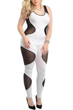 DHStyles Women's White Black Plus Size Sexy Slinky Sheer Mesh Cut Out Keyhole Romper - 3X #sexytops #clubclothes #sexydresses #fashionablesexydress #sexyshirts #sexyclothes #cocktaildresses #clubwear #cheapsexydresses #clubdresses #cheaptops #partytops #partydress #haltertops #cocktaildresses #partydresses #minidress #nightclubclothes #hotfashion #juniorsclothing #cocktaildress #glamclothing #sexytop #womensclothes #clubbingclothes #juniorsclothes #juniorclothes #trendyclothing #minidresses…