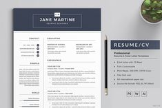 Resume/CV by ThemeDevisers on Resume Tips, Resume Cv, Resume Writing, Resume Design, Best Resume Template, Cv Template, Cv Words, Free Resume Examples, Letter Templates