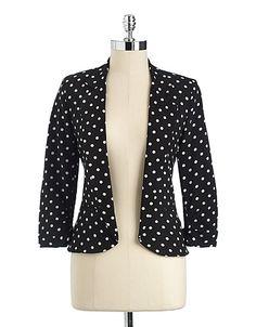 Dot Print Open Front Blazer | Fall fashion inspo, Fashion
