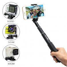 BlitzWolf® Mini  Ultimate 4 Button Bluetooth Extendable Aluminium Selfie Stick Monopod