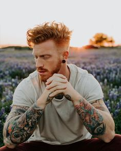 Ginger Beard, Ginger Hair, Hot Ginger Men, Ginger Guys, Red Beard, Redhead Hairstyles, Korean Hairstyles Women, Japanese Hairstyles, Asian Men Hairstyle