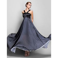 Formal Evening/Military Ball Dress A-line Halter Floor-length Chiffon Dress – AUD $ 136.99