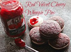 Red Velvet Cherry Whoopie Pies