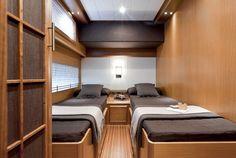 Mochi Craft Dolphin 74C | Interior | Twin cabin