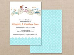 Printable boy bicycle baby shower invitation digital file blue printable boy bicycle baby shower invitation digital file blue bike baby shower pinterest bicycling shower invitations and boy baby showers filmwisefo