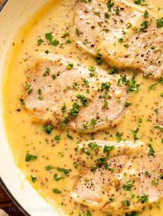 These quick Creamy Honey Dijon Pork Chops are a fantastic weeknight dinner recipe that the whole family will love! Easy Pork Chop Recipes, Pork Recipes, Pork Casserole Recipes, Pork Sirloin Chops, Pork Chop Calories, Honey Mustard Pork Chops, Fluffy Mashed Potatoes, Corn Salad Recipes, Pork Dishes