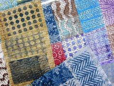 Printing with Gelli Arts®: DIY Gelli® Printed Fabric Patches!