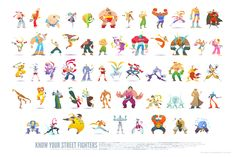 Know Your Street Fighters by *ken-wong on deviantART