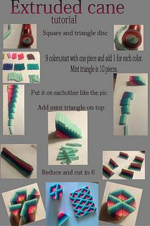 Extruded cane tutorial | Flickr - Photo Sharing!