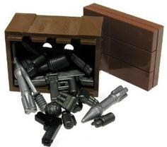 BrickArms LEGO Custom Supply Crate Guns, Ammo, Grenades More! by LEGO. $10.89. Great for setting up MOCs or just storing your BrickArms is a cool way. Comes with the crate and 9 Mk2 grenades.