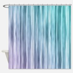 Purple And Turquoise Shower Curtains