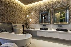 40 Bancadas de banheiros/lavabos - veja modelos modernos e maravilhosos!