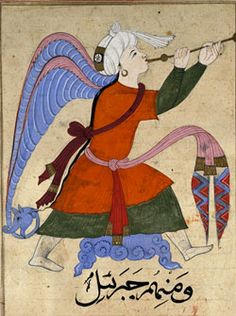 Archangel Gabriel in an Arabic-manuscript From The Wonders of Creation and the Oddities of Existence, Egypt/Syria c.1375–1425 CE